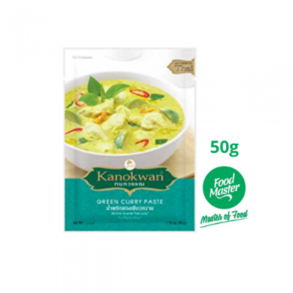 Kanokwan Green Curry Paste 50g ( Serve For 2 - 3 persons ) ( Free Premium Packing )
