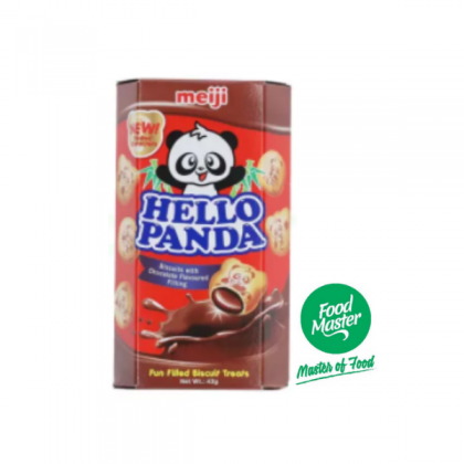 Hello Panda Biscuits with Chocolate Flavoured Filling 43g