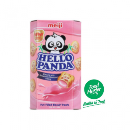 Hello Panda Biscuits with strawberry Flavoured Filling 43g
