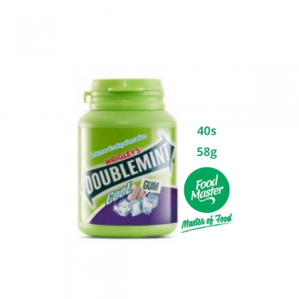 Wrigley's Doublemint Cool Chewing Gum Blackcurrant Flavour 40 Pellets 58g ( Free Premium Packing )