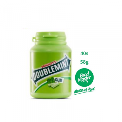 Wrigley's Doublemint Cool Chewing Gum Original Flavour 40 Pellets 58g ( Free Premium Packing )